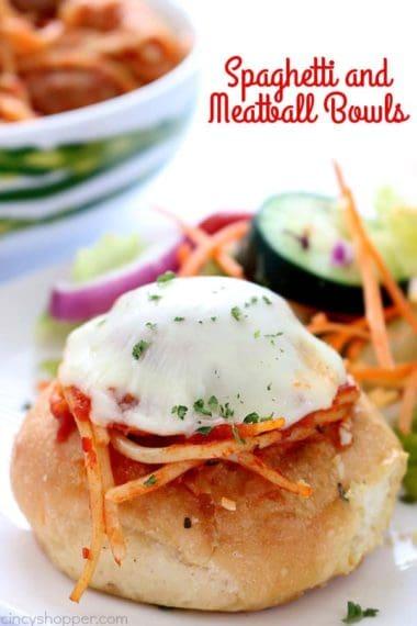 Spaghetti and Meatball Bowls