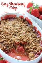 Easy Strawberry Crisp