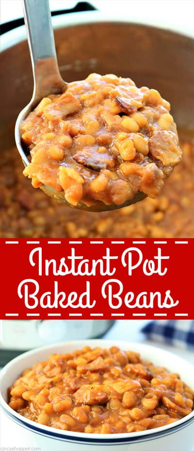 Instant Pot No Soak Baked Beans - Since this is a no soak recipe, you can have them ready in no time at all. Great for summer BBQ's, picnics, and potlucks. #InstantPot #BakedBeans