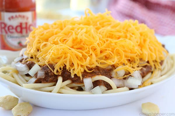 Homemade Cincinnati Chili - so easy to make! Serve it over spaghetti or even as a cheese coney.