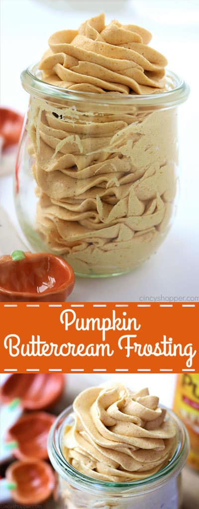 Homemade Pumpkin Buttercream Frosting - Perfect for cookies, cakes, cupcakes, and more!