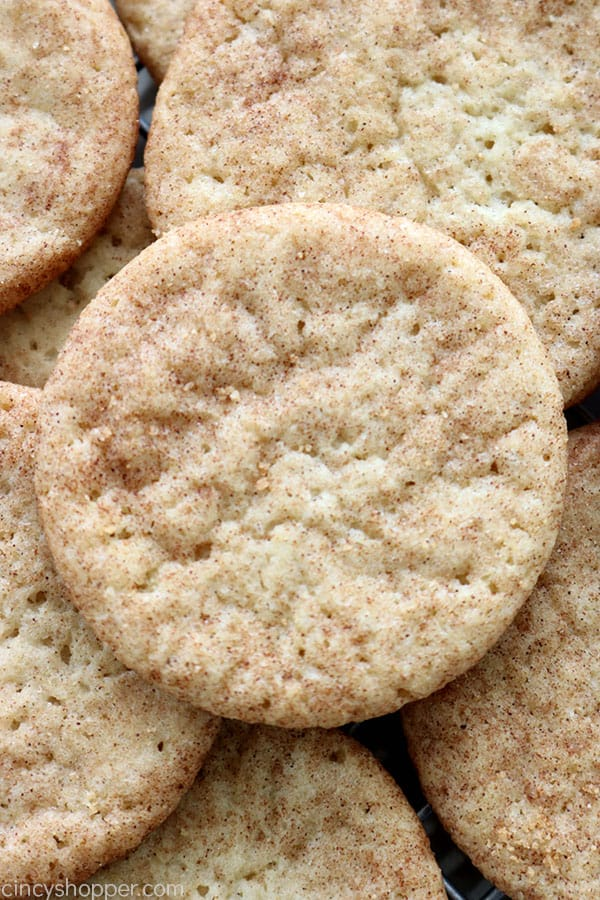 Snickerdoodle Cookies - soft, chewy, and thicker then your average snickerdoodle recipe. Perfect for Christmas or in a lunchbox.