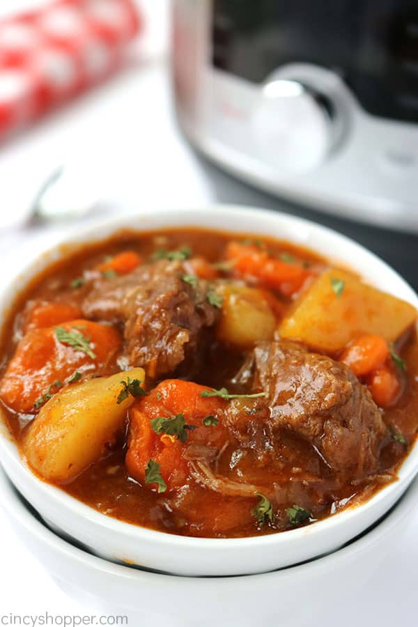 Instant Pot Beef Stew - no need to cook it all day on the stovetop or slow cooker. Make your stew in your pressure cooker in no time at all.