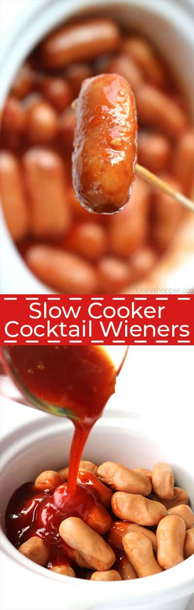If you are needing a party appetizer with a kick, you will want to make these Slow Cooker Cocktail Wieners. You can use little smokies or the little wieners for this recipe. We make them in the Crock-Pot so they are super simple!