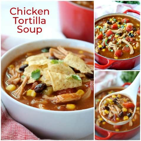 Chicken Tortilla Soup collage.
