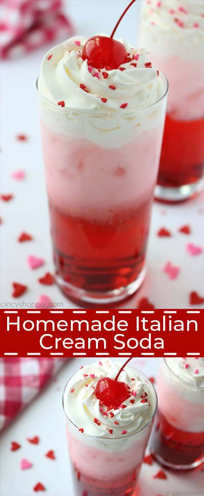 Homemade Italian Cream Soda - With just a few very simple ingredients, you can enjoy a fun retro beverage with endless flavor combinations.