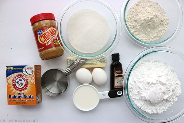 Peanut butter cake ingredients