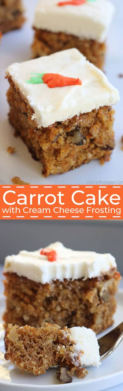 The Best Carrot Cake with Cream Cheese frosting long collage.