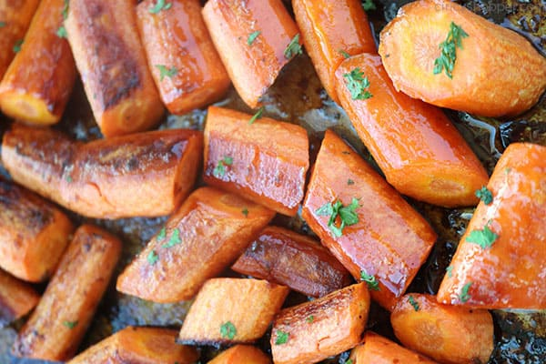 Roasted carrots on sheetpan