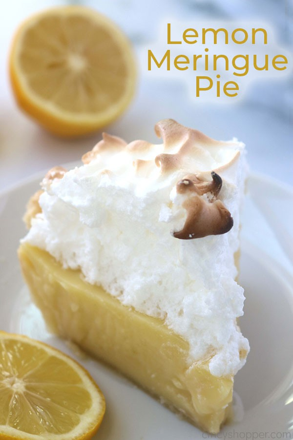 Lemon meringue pie with text.