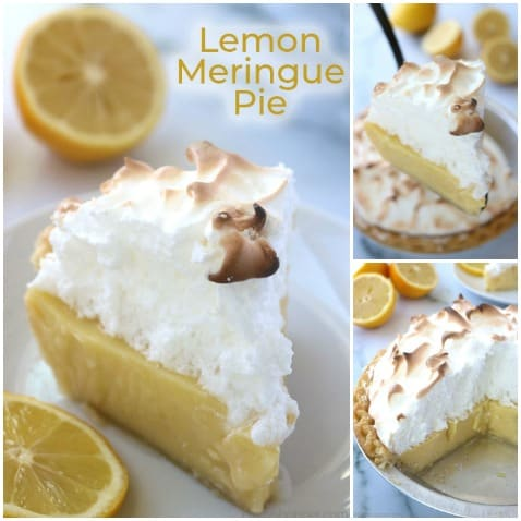 Lemon Meringue Pie collage.