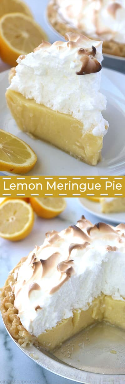 Long collage of Lemon Meringue Pie.