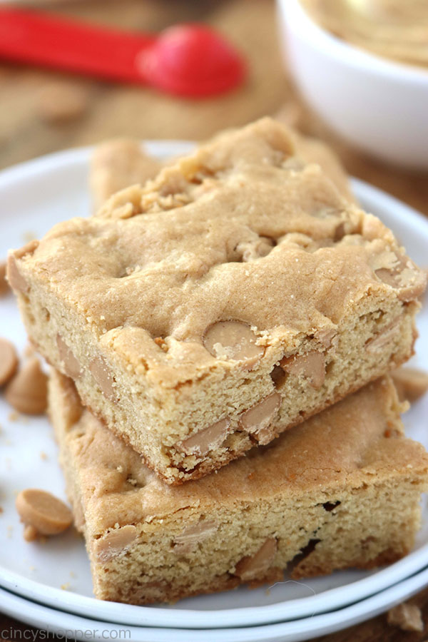 Peanut Butter Brownies on a plate.