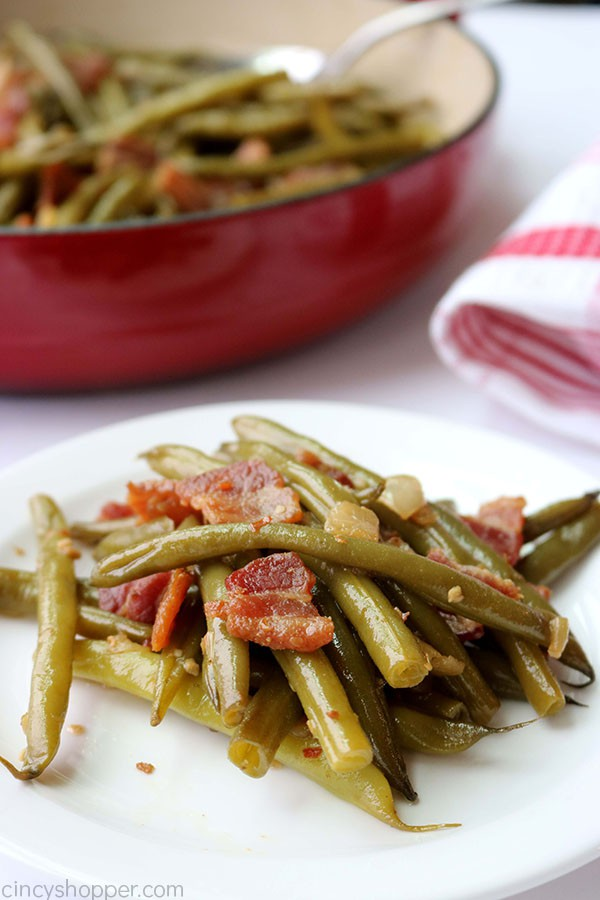 Southern green beans from scratch