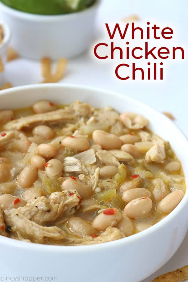 White Chicken Chili with text
