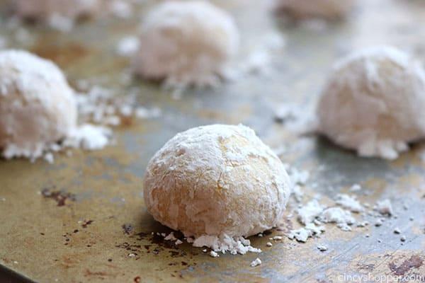 Easy lemon cookies on pan.