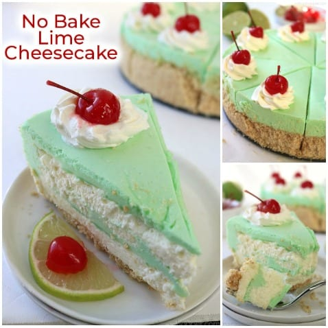 No Bake Lime Cheesecake collage