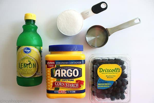 Ingredients to make Blueberry Sauce