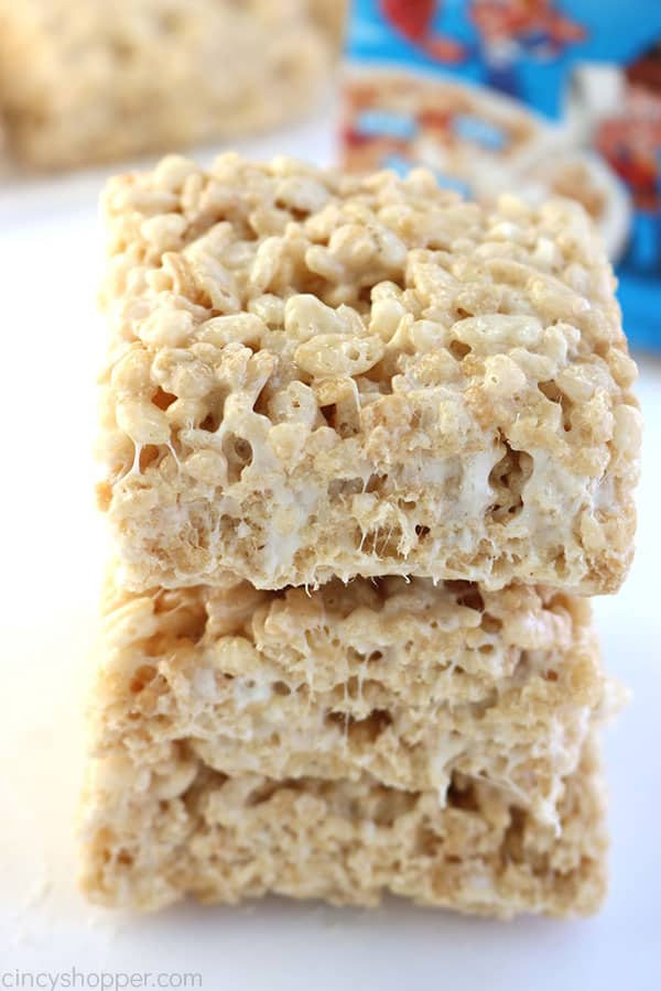 Stack of The Best Krispie Treats.