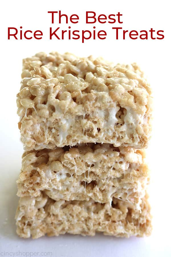 Text image of the best Krispie Treats.
