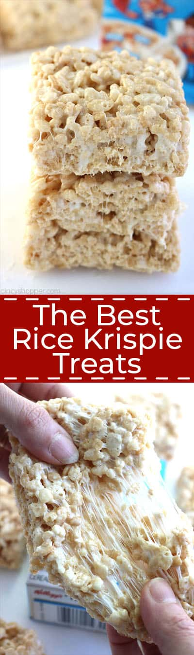 Long collage of The Best Rice Krispie Treats