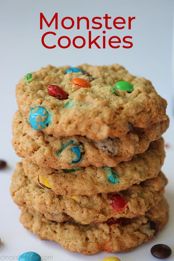 Monster Cookies with text.