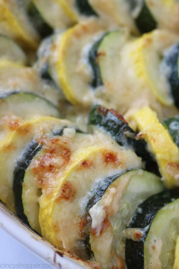Yellow and Green Parmesan Zucchini Casserole