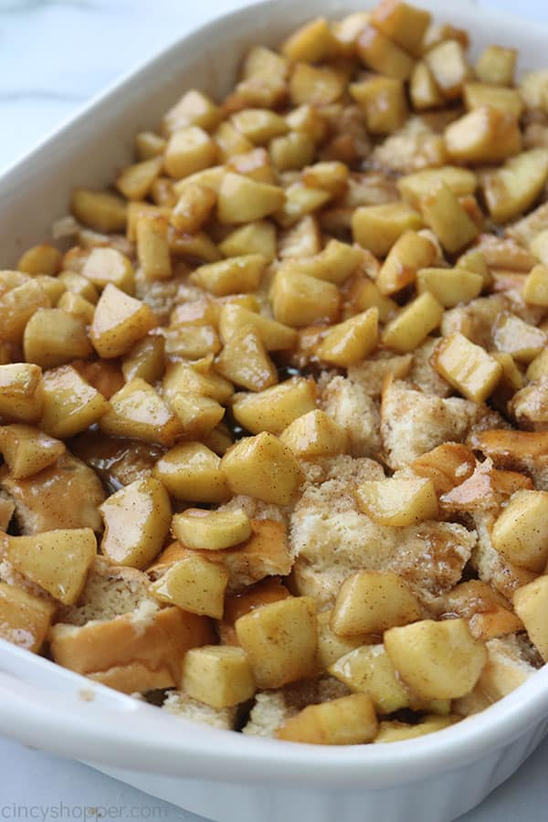Apple topped french toast casserole.