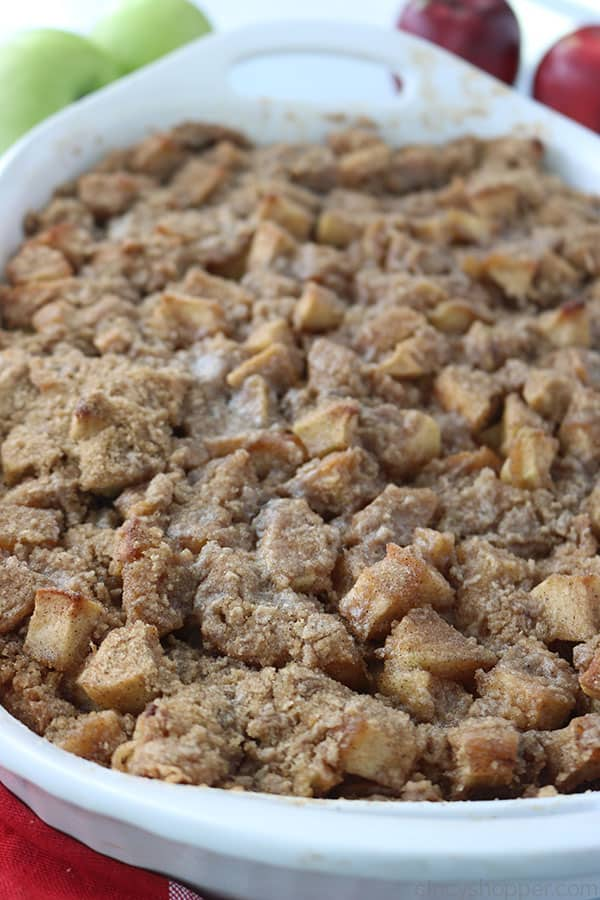 Baked Apple French Toast Casserole.