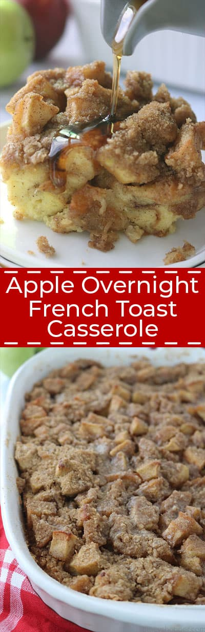 Long collage of Apple Overnight French Toast Casserole