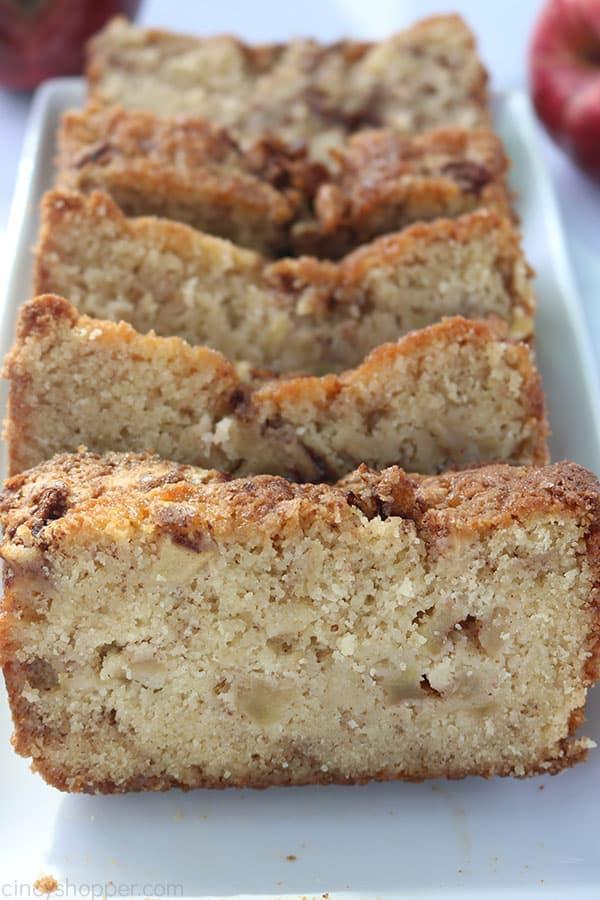 Cinnamon Apple Bread on a plate.
