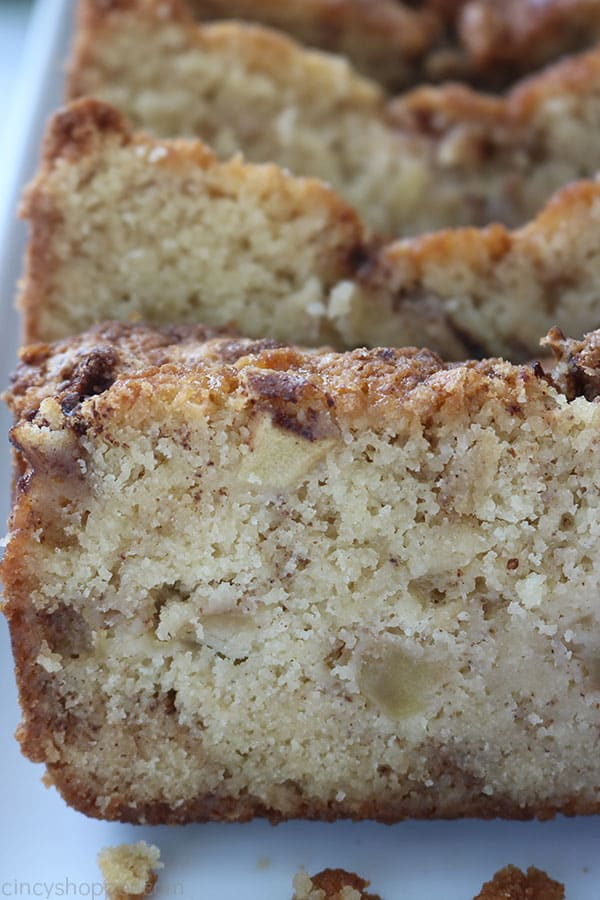 Easy Apple Bread with Chunks of apple.