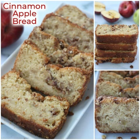 Collage with Easy Apple Bread.