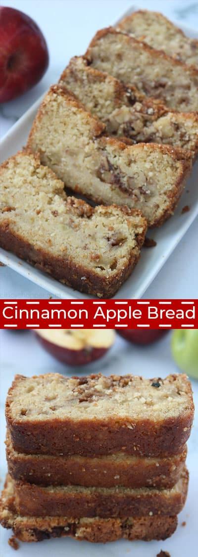 Cinnamon Apple Bread collage.