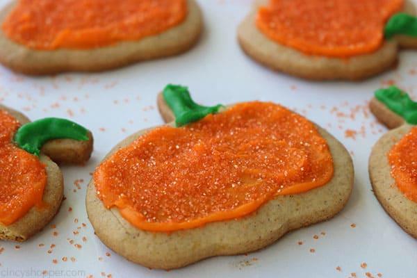 Easy pumpkin shaped cookies.