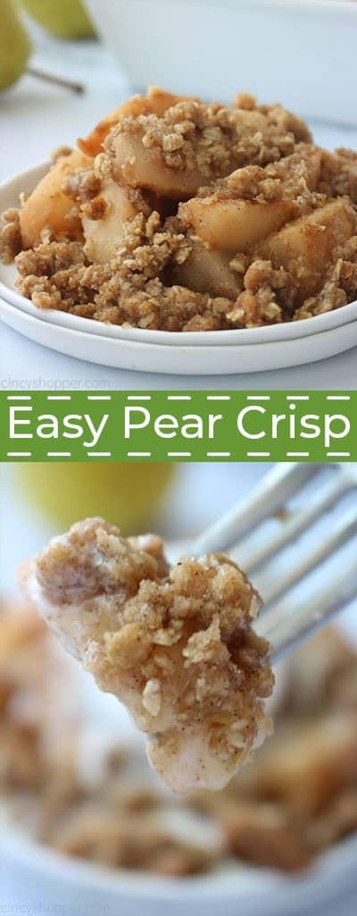 Easy Pear Crisp recipe.