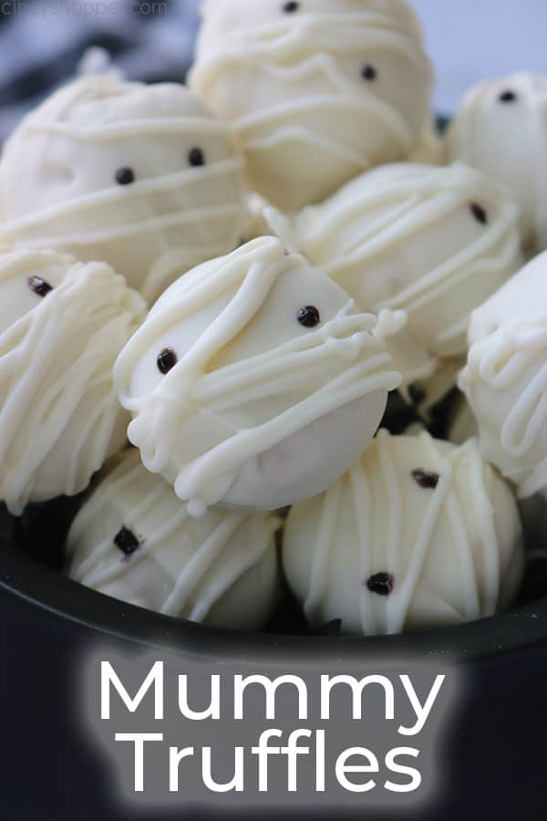Cute Halloween Treat Mummy Truffles