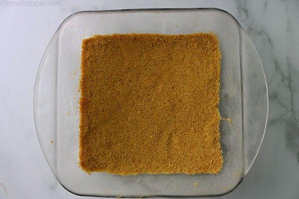 No Bake Graham Cracker Crust for making Caramel Apple Lush.