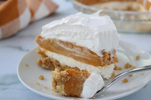 Fork with Layer Pumpkin Pie