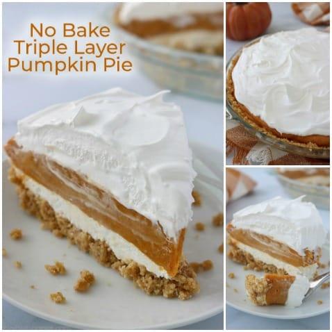No Bake Pumpkin Layer Pie