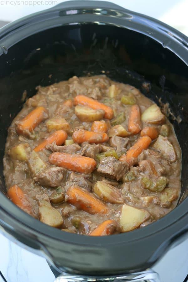 Beef Stew in a Crockpot.