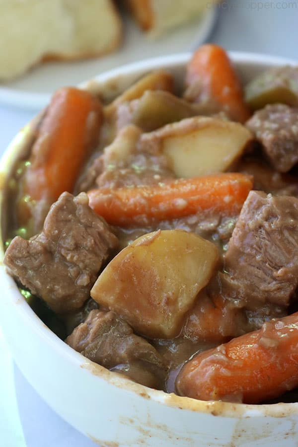 Slow Cooker Beef Stew in a bowl.