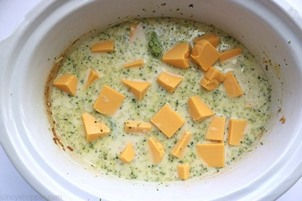 Broccoli Cheese Soup in Slow Cooker