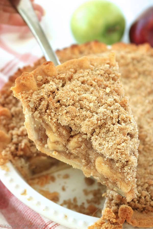 Dutch Apple Pie on a server.