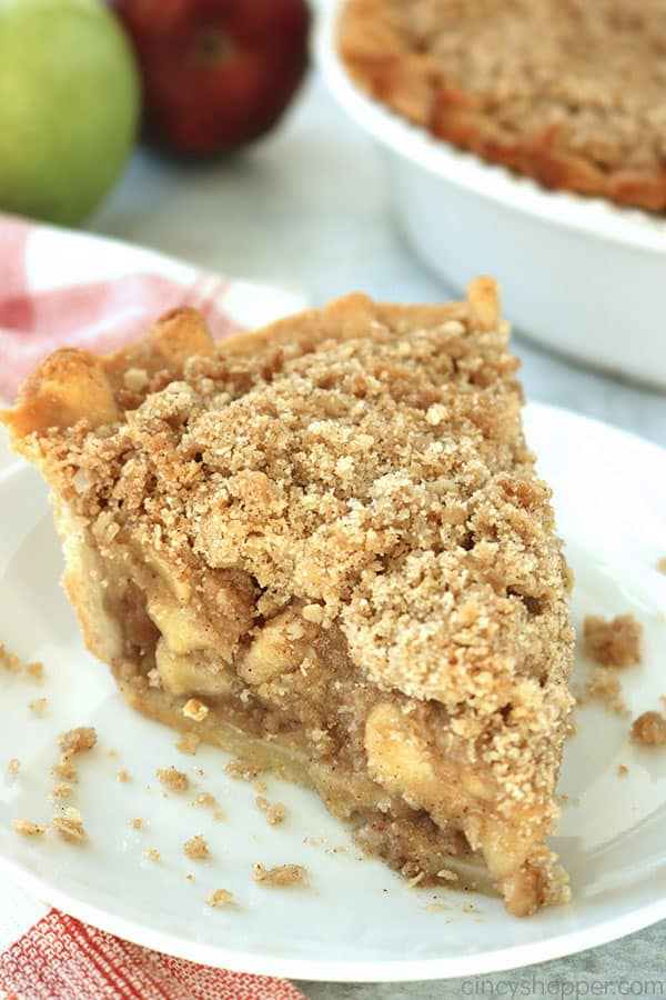 Slice of Dutch Apple Pie.