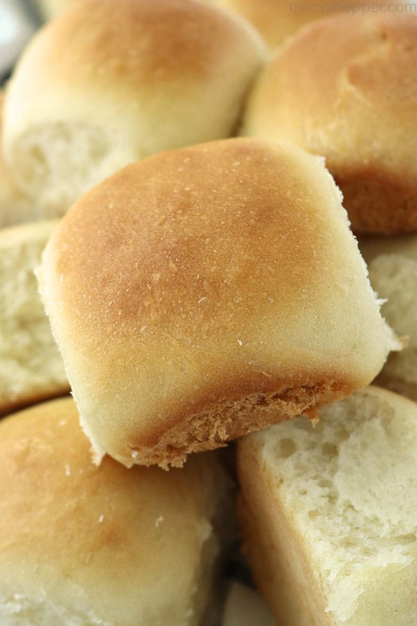 Easy dinner rolls fresh from the oven.