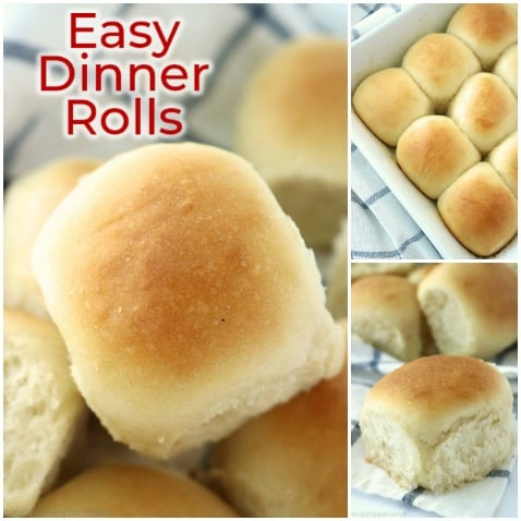 Easy homemade dinner rolls.
