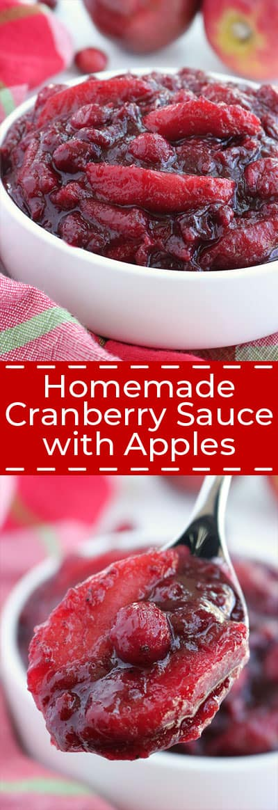 Homemade Cranberry Sauce with Apples
