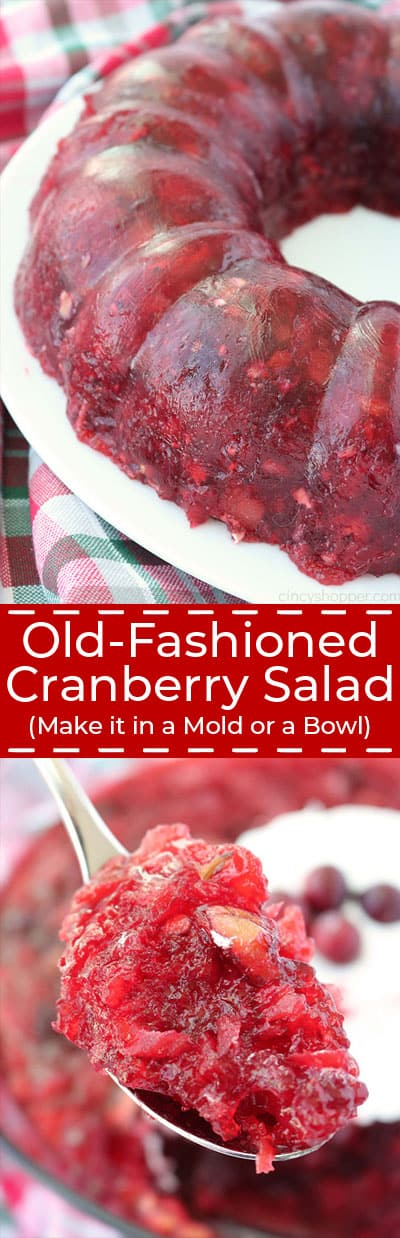 Old- Fashioned Cranberry Salad.