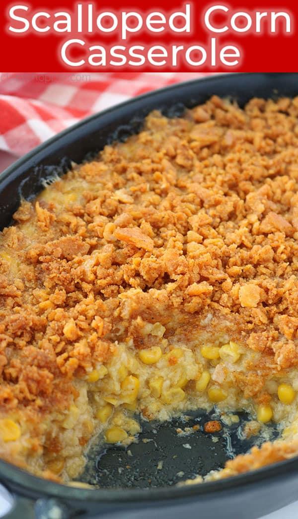 Easy Scalloped Corn Casserole